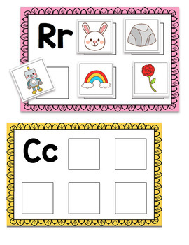 Beginning Sounds- Matching Mats