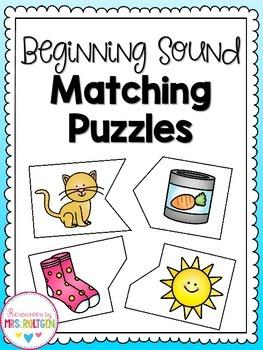 Beginning Sounds Matching Puzzles