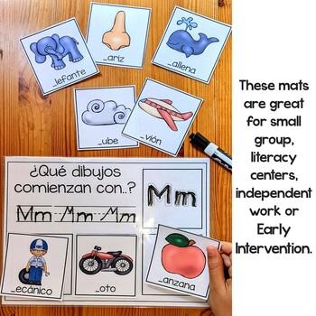 Beginning Sounds Mats In Spanish