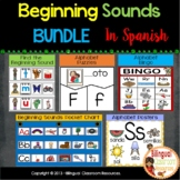Beginning Sounds Mega Pack {Spanish Version}.