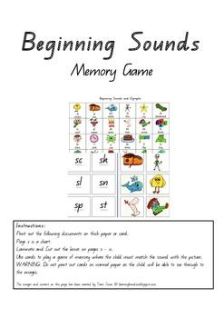 Beginning Sounds Memory Game!!