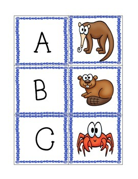 Beginning Sounds {Memory & Matching & Write the Room}