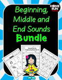 Beginning Sounds, Middle Sounds and End Sounds Bundle