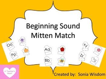 Beginning Sounds Mitten Match