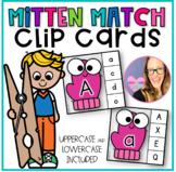 Beginning Sounds Mitten Match - Clip Cards