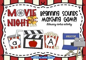 Beginning Sounds Movie Night Theme ~ Miss Mac Attack ~