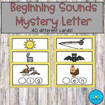 Beginning Sounds Mystery Letter