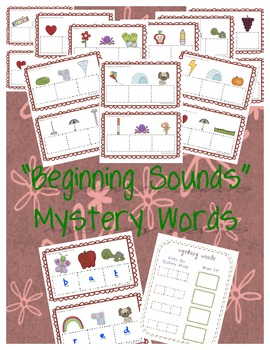 Beginning Sounds Mystery Words: Set 1