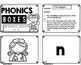 Beginning Sounds N - Z Phonics Boxes