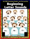 Beginning Sounds NO PREP Packet with Data for Special Education