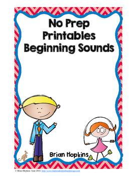 Beginning Sounds No Prep Printables