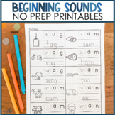 Beginning Sounds: No Prep Printables