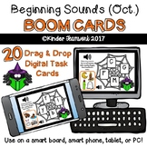 Beginning Sounds (October Theme) Drag and Drop BOOM CARDS