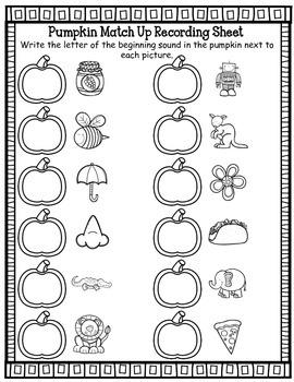 Beginning Sounds October and Halloween Center