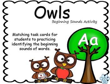 Beginning Sounds Owl