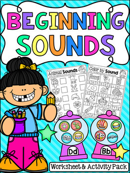 Beginning Sounds Pack - Worksheets and Gumball Game
