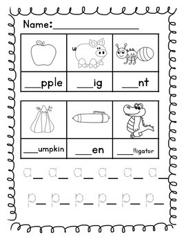 Beginning Sounds Pages
