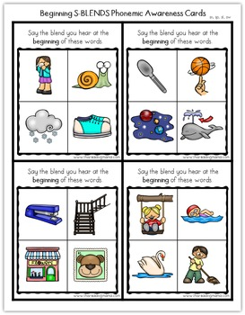 Beginning Sounds Phonemic Awareness Cards