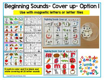 Beginning Sounds Phonemic Awareness Literacy Center Activities