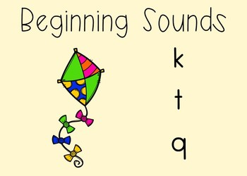 Beginning Sounds Phonics BOOM Cards Digital Task Cards for Kindergarten
