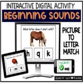 Beginning Sounds Phonics Digital Task Cards