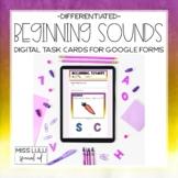 Beginning Sounds Phonics Digital Task Cards for Distance L