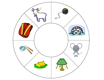 Beginning Sounds Phonics Matching Wheels