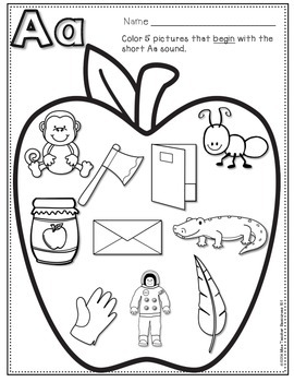 Beginning Sounds - Phonics Printables