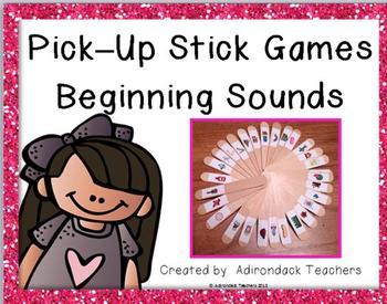 Beginning Sounds Pick-Up Sticks Games