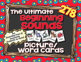 Beginning Sounds Picture Cards - Ultimate Pack of 278 5x7 Picture/Word Cards!