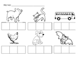 Beginning Sounds Picture Fill In