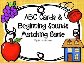 Beginning Sounds Cards & Matching Game