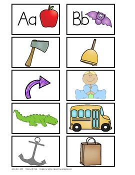 Beginning Sounds Picture-Letter Matching