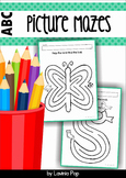 Beginning Sounds Picture Mazes