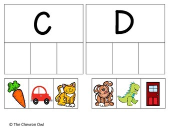 Beginning Sounds Picture Sort
