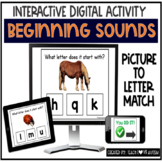 Beginning Sounds Picture to Letter Digital Task Cards & Bo