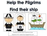 Beginning Sounds Pilgrim Matching Thanksgiving Activity Li