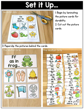 Beginning Sounds Pocket Chart: Phonemic Awareness