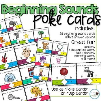 Beginning Sounds Poke Cards