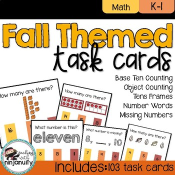 Fall Counting Poke Cards