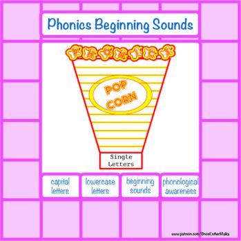 Beginning Sounds Popcorn Game