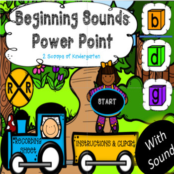 Beginning Sounds Power Point Game with Audio