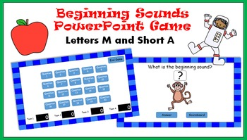 Beginning Sounds PowerPoint Game - M and Short A