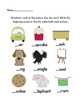 Beginning Sounds Practice