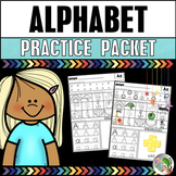 Letter Sounds and Letter Recognition Practice Packet - Alphabet Worksheets
