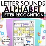 Letter Sounds and Letter Recognition Practice Packet - Alphabet Worksheets