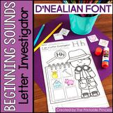 Beginning Sounds Practice Pages - D'NEALIAN FONT