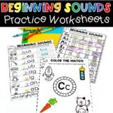 Beginning Sounds Practice Worksheets