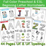 Beginning Sounds Preschool & Kindergarten Writing Pack
