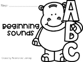 Beginning Sounds Print and Go Practice Pages-for students